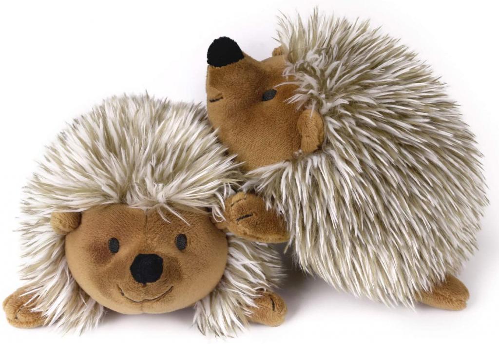 ペットおもちゃ Pawaboo 犬おもちゃ ぬいぐるみ 犬用噛むおもちゃ ハリネズミ型 発声装置搭載歯ぎしり 丈夫 清潔 安全 トレーニング 遊び ストレス解消 運動不足 2個セット Brown